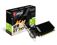 MSI nVidia GeForce GT 710 2GB GDDR3 64bit, GT 710 2GD3H LP