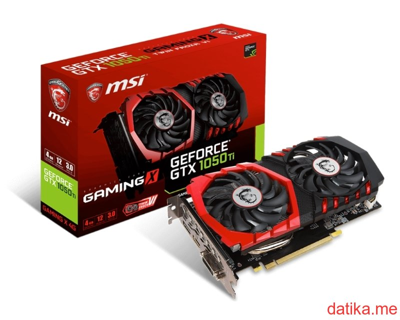 MSI nVidia GeForce GTX 1050 Ti 4GB GDDR5 128bit, GTX 1050 Ti GAMING X 4G