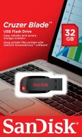 SanDisk USB Flash Drive 32GB Cruzer blade