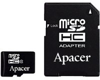 Apacer MicroSDHC 16GB class 4 + adapter