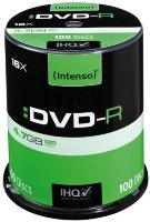 Intenso DVD-R, 4.7GB/120 Minutes,Single Layer Cake Box 100kom