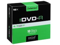 Intenso DVD-R, 4.7GB/120 Minutes Slim Case 10kom