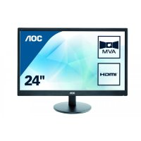 "AOC 23.6"" M2470SWH Full HD MVA monitor with speakers"