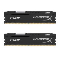 Kingston HyperX Fury Black DIMM DDR4 32GB 2400MHz, HX424C15FBK2/32