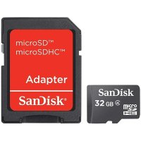 SanDisk 32GB MicroSD with microSDHC-SD Adapter