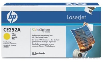 HP 504A Yellow Original LaserJet Toner Cartridge, CE252A