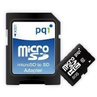 PQI 8GB MicroSDHC Card with SD adaptor Class 4