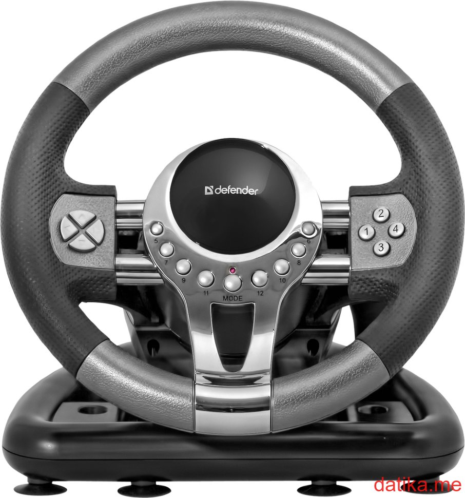 Defender Gaming wheel FORSAGE GTR USB, 12 buttons, gear stick