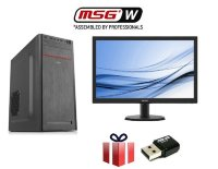 "SET PC MSGW Office Pentium G5400/4GB/120GB SSD + Monitor 21.5"" Philips + Asus USB Wireless adapter"