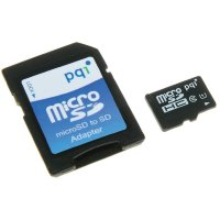 PQI 32GB MicroSDHC Card with SD adapters Class10, UHS-1