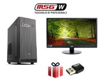 "SET PC MSGW Office i3-8100/8GB/240GB SSD + Monitor AOC 23.6"" + Asus USB Wireless adapter"