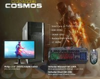 "Main Gamer Cosmos Intel I3-7100/8GB/240GB SSD/Radeon RX470 8GB/600W + Philips 243V5LHSB 23.6"" Full HD + Defender tastatura i mis"