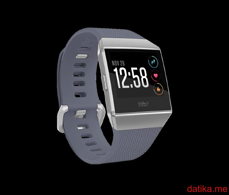Buy Fitbit Ionic Watch Music Storage Apps Fitnesss Guidance In Charcoal Smoke Gray