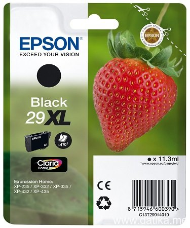Epson INK JET Br.T2991, XL (Black) 11,3 ml. - za Epson Expression Home XP-235/332/335/432/435