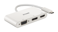 D-link 3‑in‑1 USB‑C to HDMI/VGA/DisplayPort Adapter