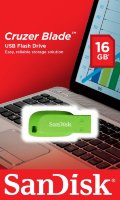 SanDisk USB Flash Drive 16GB Cruzer Blade Electric, USB 2.0