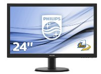 "Philips 23.6"" V-Line 243V5LHSB5 Full HD 1ms LED monitor"