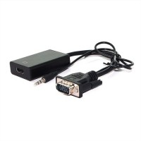 Rotronic VALUE, VGA+Audio - HDMI, M/F, 0.15 m Cableadapter