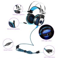 Kotion Each GS500 Gaming Headset Blue-Black