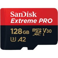 SanDisk Extreme Pro microSDXC 128GB + SD Adapter + Rescue Pro Deluxe 170MB/s A2 C10 V30