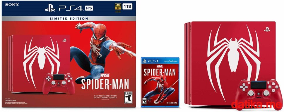 SONY PS4 Pro 1TB B chassis Special Edition + Spider-Man