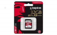 Kingston SDHC Card 32GB Canvas React C10 UHS-I U3,100MB/s read and 70MB/s write speed