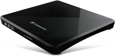Transcend DVD±R External Ultra Slim 8X, USB 2.0, Dual Layer, USB powered, Ultra-slim, Black