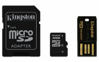 Kingston 16/32GB microSDHC/SDXC Class4 (microSD with SD Adapter and USB Reader 2.0)
