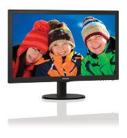 "Philips V-Line 243V5LHAB 23.6"" Full HD TN LED monitor with stereo speakers"