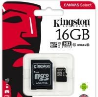 Kingston Canvas Select MicroSDHC Class10 16/32/64/128/256GB