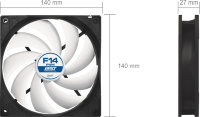 Arctic Cooling F14 PWM PST 4-Pin fan 140mm