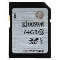 Kingston SDHC 64GB Class 10 UHS-I Card