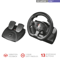 Trust GXT 580 Sano Vibration Feedback Racing Wheel