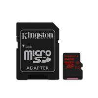 Kingston 64GB MicroSDXC Card with SD adapter Class10 UHS-I U3