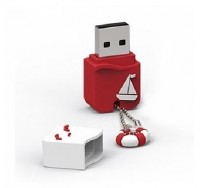 PQI 16GB U605L, Eco Package, USB 2.0, Red