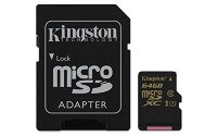 Kingston 32GB/64GB MicroSDHC Card with SD adapter Class10 UHS-I Speed Class 1 (U1)