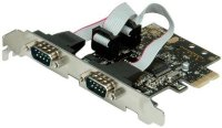 Secomp Value PCI-Express Adapter, 2x Serial RS232 D-Sub 9 Ports