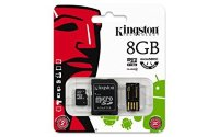 Kingston 8 GB microSDHC/SDXC Class4 (microSD with SD Adapter and USB Reader 2.0)
