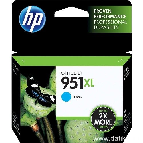HP 951XL Cyan Original Ink Cartridge  (CN046AE)