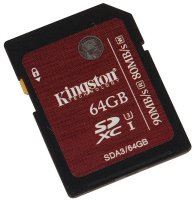 Kingston 64GB SDXC Card Class 10 UHS-1 U3